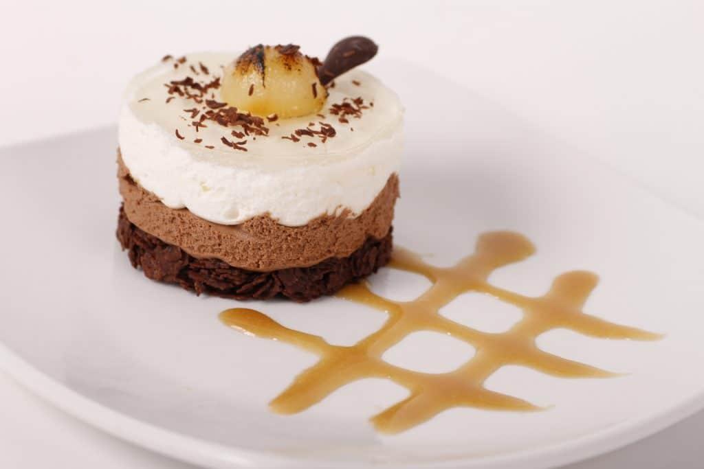 Gâteau mousse choco-poires