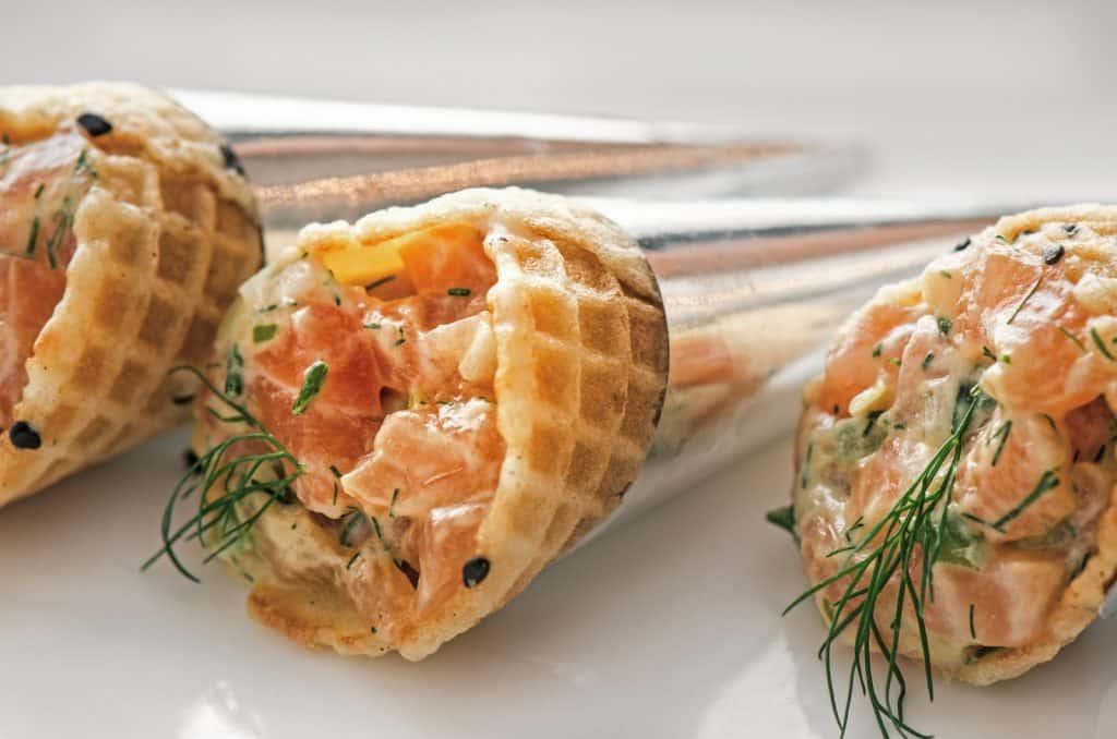Cornet de tartare de saumon