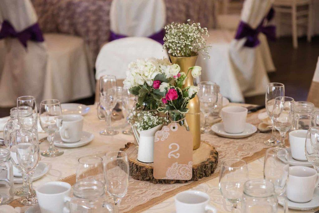 Centre rustique rondin mariage