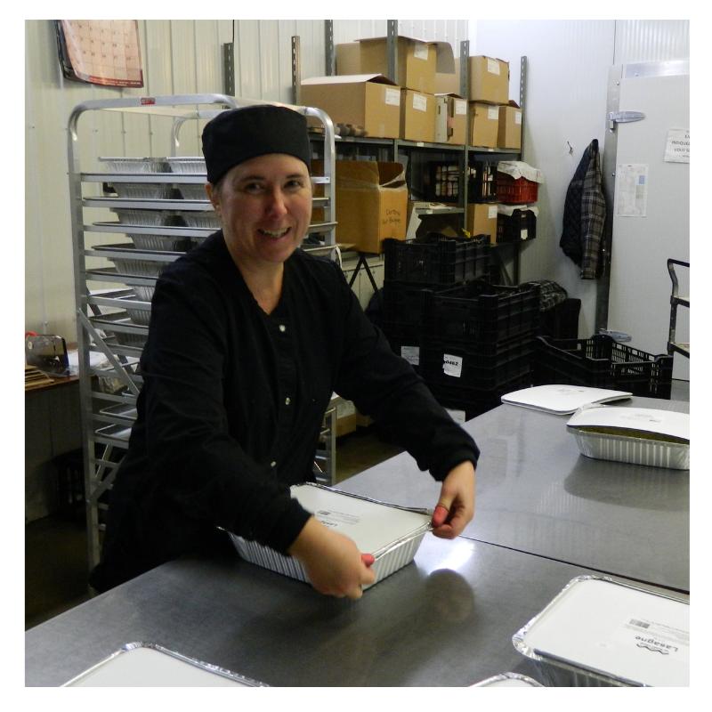 Équipe Emballage Cuisine De Prodution Produits D'antan